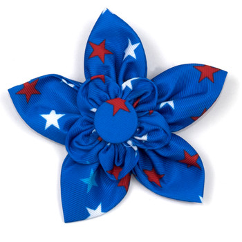 Patriotic Stars Pet Dog Collar Flower