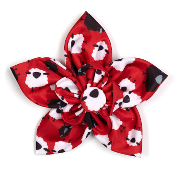 Counting Sheep Pet Dog Collar Flower