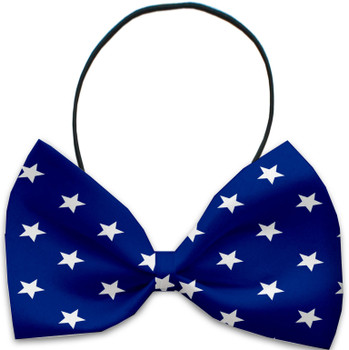 Blue Stars Pet Dog Bow Tie