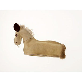 Krinkle Brumby Horse Leather Dog Toy