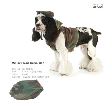 Military Mad Camo Cap - Green by Puppy Angel