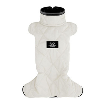 Mac Calgary Padded Dog Overalls / Bodysuit - White