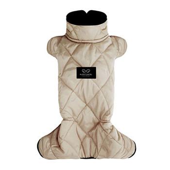 Mac Calgary Padded Dog Overalls / Bodysuit - Beige