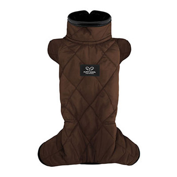 Mac Calgary Padded Dog Overalls / Bodysuit - Brown