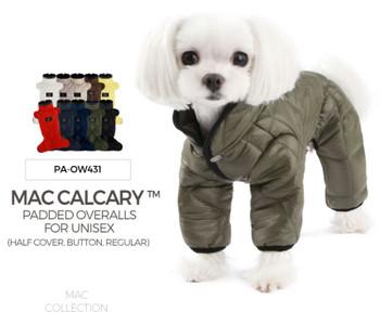 Mac Calgary Padded Dog Overalls / Bodysuit - Yellow