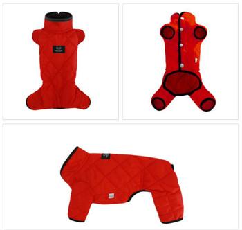 Mac Calgary Padded Dog Overalls / Bodysuit - Red