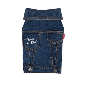 Geolgine Denim LOVE Dog Jacket - Blue