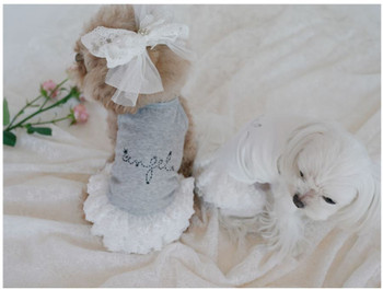 Puppy Angel Feel The Happiness Sleeveless Dog Tutu Dress - White