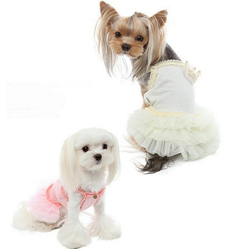 Puppy Angel Royal Ballet Dog Tutu Dress - Ivory