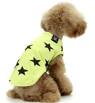Puppy Angel Star Sleeveless Doggie T-shirts - Green