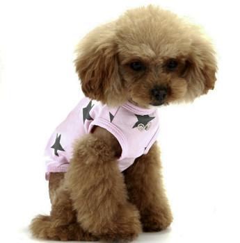 Puppy Angel Star Sleeveless Doggie T-shirts - Pink