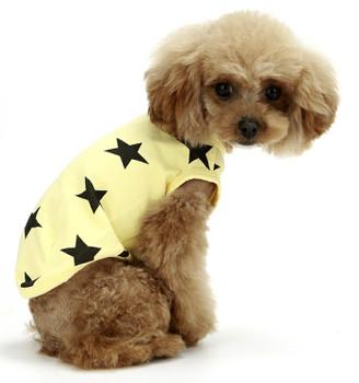 Puppy Angel Star Sleeveless Doggie T-shirts - Yellow