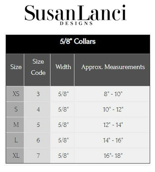 "Susan Lanci 5/8"" Width Collars Sizing Chart and Video"