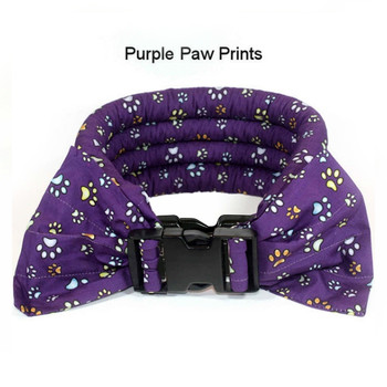 Too Cool Cooling Dog Collars -Purple Paw Print