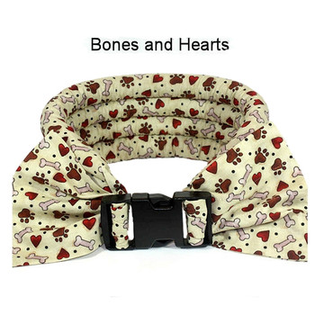 Too Cool Cooling Dog Collars -Bones & Hearts
