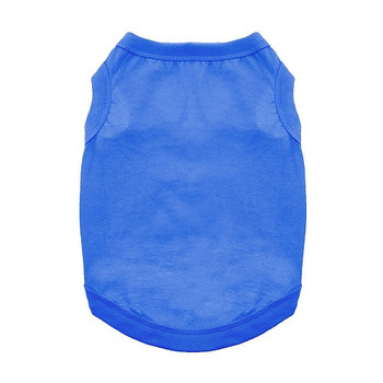 100% Plain Cotton Dog Tanks - Nautical Blue - Tiny - Big Dog Sizes