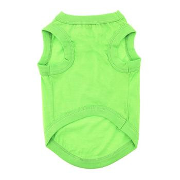 100% Plain Cotton Dog Tanks - Green Flash - Tiny - Big Dog Sizes