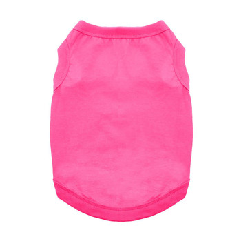 100% Plain Cotton Dog Tanks - Raspberry Sorbet - Tiny - Big Dog Sizes