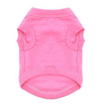 100% Plain Cotton Dog Tanks - Carnation Pink - Tiny - Big Dog Sizes