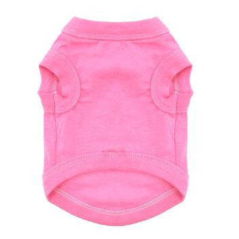 100% Plain Cotton Dog Tanks - Carnation Pink - Tiny - Big Dog Sizes