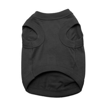 100% Plain Cotton Dog Tanks - Jet Black - Tiny - Big Dog Sizes