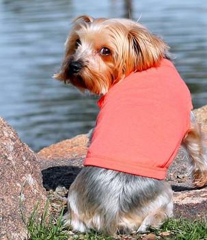 100% Plain Cotton Dog Tanks - Coral - Tiny - Big Dog Sizes