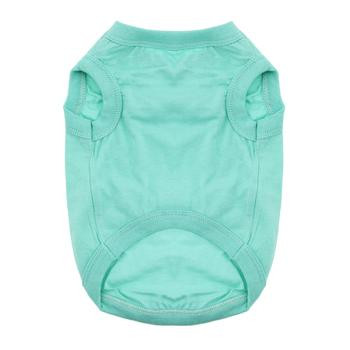 100% Plain Cotton Dog Tanks - Teal - Tiny - Big Dog Sizes