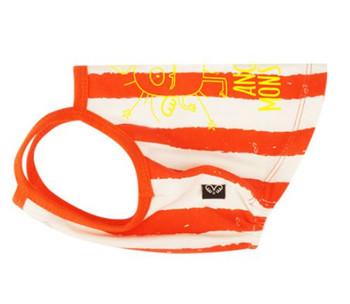 Monsters Striped Strap Top - Orange