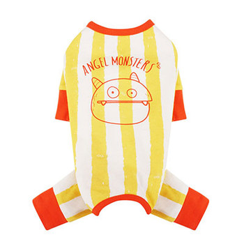 Monsters Striped Jumper / Pajamas - Yellow