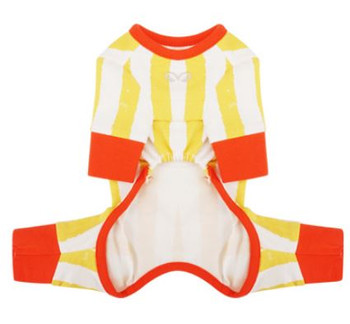 Monsters Striped Jumper / Pajamas - Orange