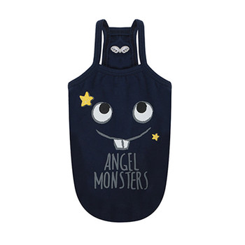 Monsters Spaghetti Strap Top - Navy Blue