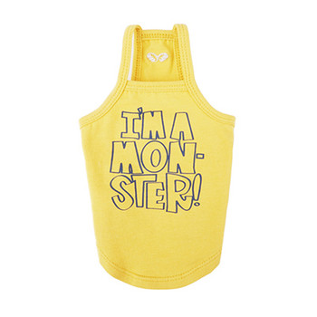 I'm A Monster Spaghetti Strap Top - Yellow