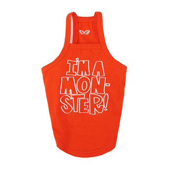 I'm A Monster Spaghetti Strap Top - Orange