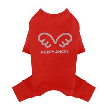 Puppy Angel Signature Bodysuit / Pajamas - Red