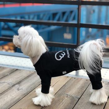Puppy Angel Signature Bodysuit / Pajamas - Black