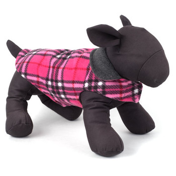 Fargo Fleece Pet Dog Jacket Coat - Pink Plaid IV