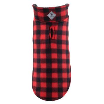 Fargo Fleece Pet Dog Jacket Coat - Red Buffalo
