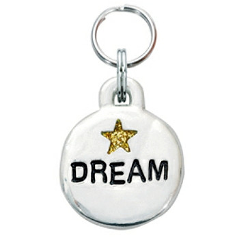 Pewter Engravable Pet ID Tag - Dream & Star