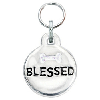 Pewter Engravable Pet ID Tag - Blessed & Bone