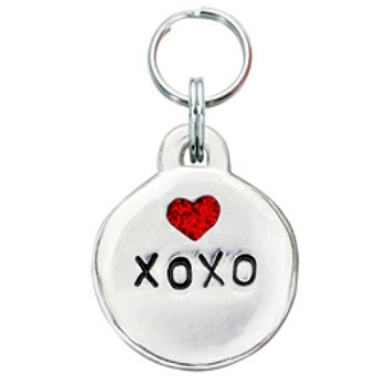 Pewter Engravable Pet ID Tag - XOXO & Heart