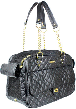 London Quilted Designer Dog Travel Carrier