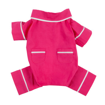 Hot Pink Poplin Cotton Dog Pajamas