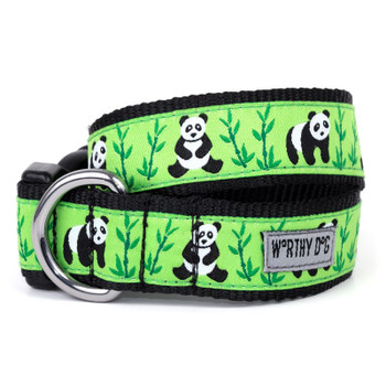 Pandas Pet Dog Collar & Optional Lead Collection