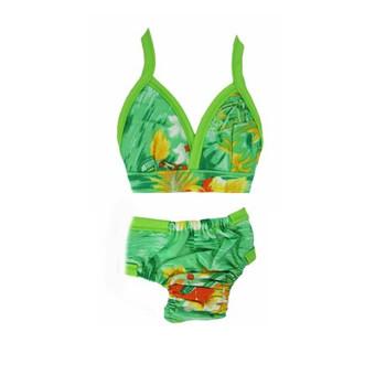 Hawaiian Dog Bikini - Green
