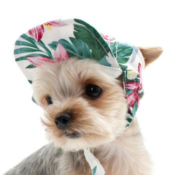 Tropical Island Pet Dog Visor / Hat
