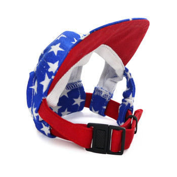 Star Patriotic Pet Dog Visor / Hat