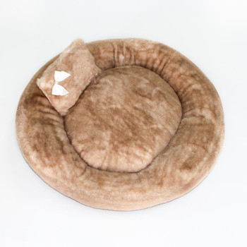 Designer Teddy Bear Dog Bed - Round