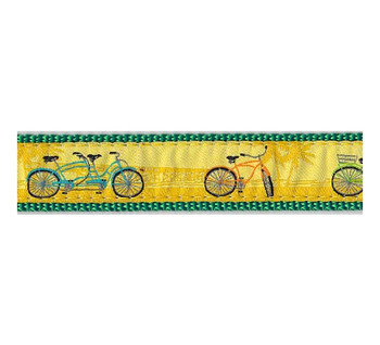 Dog Collar - Beach Bikes -  3/4 & 1 1/4