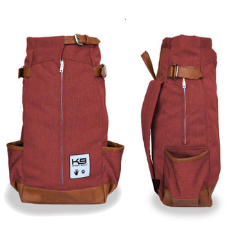 Urban Pet Backpack Carrier - Maroon Red