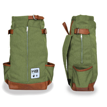 Urban Pet Backpack Carrier - Olive Green